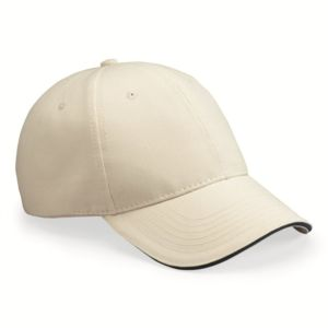 USA-Made Structured Twill Cap with Sandwich Visor Thumbnail