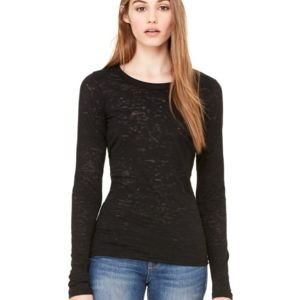 Women's Long Sleeve Burnout Tee Thumbnail