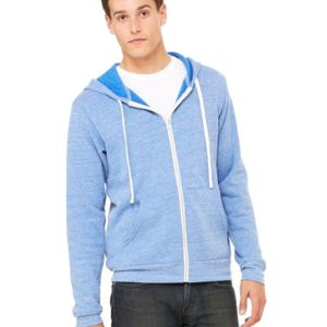 Unisex Triblend Sponge Fleece Full-Zip Sweatshirt Thumbnail