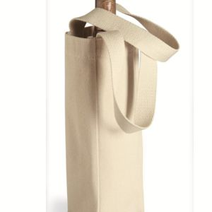 10 Ounce Cotton Canvas Single Bottle Wine Tote Thumbnail