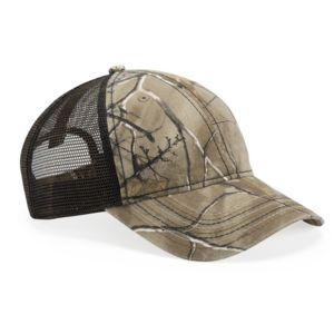 Camo Cap with Mesh Back and American Flag Undervisor Thumbnail