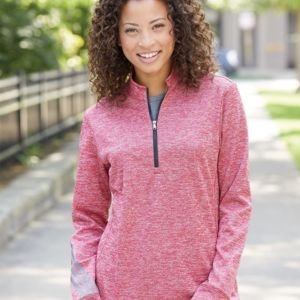 Women's Brushed Terry Heather Quarter-Zip Thumbnail